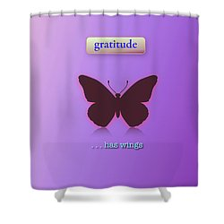 Gratitude Has Wings Shower Curtain by Jack Eadon