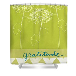 Gratitude Shower Curtain by Linda Woods