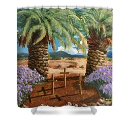 Shower Curtain featuring the painting Gratitude Reminder  by Bonnie Heather