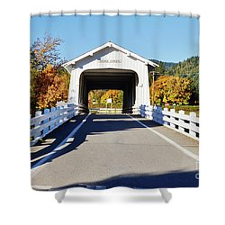 Grave Creek Covered Bridge 1 Shower Curtain