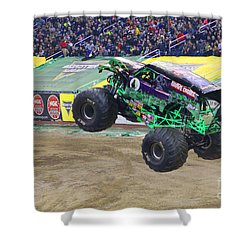 Grave Digger  Shower Curtain