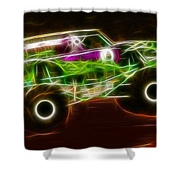 Grave Digger Monster Truck Shower Curtain