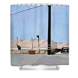 Gravel Piles Downtown La Shower Curtain by Peter Wilson