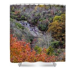 Graveyard Fields Lower Falls Shower Curtain