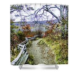 Graveyard Fields Trail Shower Curtain