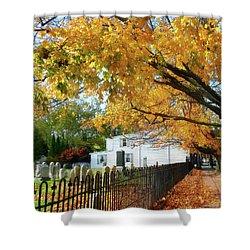Graveyard In Autumn Shower Curtain by Susan Savad