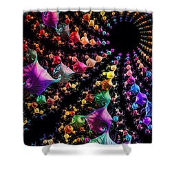 Gravitational Pull Shower Curtain by Kathy Kelly