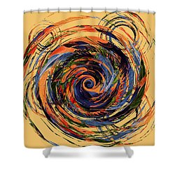 Gravity In Color Shower Curtain by Deborah Smith
