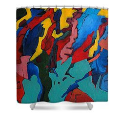 Shower Curtain featuring the painting Gravity Prevails by Bernard Goodman