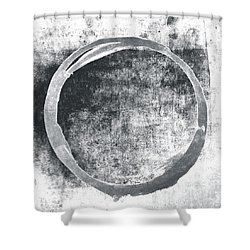 Gray Enso Shower Curtain