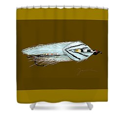 Gray Ghost Shower Curtain by Jean Pacheco Ravinski