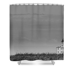 Gray Harbor In Wisconsin Shower Curtain