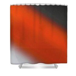 Gray Orange Grey Shower Curtain by CML Brown