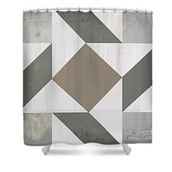 Shower Curtain featuring the painting Gray Quilt by Debbie DeWitt