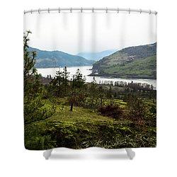 Gray Skies Around The Bend Shower Curtain