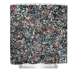 Gray Thing Shower Curtain by Ericka Herazo
