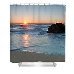 Gray Whale Cove State Beach 2 Shower Curtain by Catherine Lau
