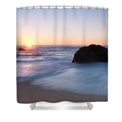 Gray Whale Cove State Beach 3 Shower Curtain by Catherine Lau