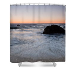 Gray Whale Cove State Beach Shower Curtain by Catherine Lau