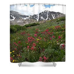 Shower Curtain featuring the photograph Gray's And Torreys by Cascade Colors