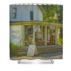 Gray's Store In Little Compton Rhode Island Shower Curtain