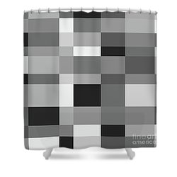 Shower Curtain featuring the digital art Grayscale Check by Bruce Stanfield
