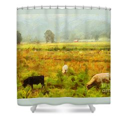 Grazing Shower Curtain by Elizabeth Coats