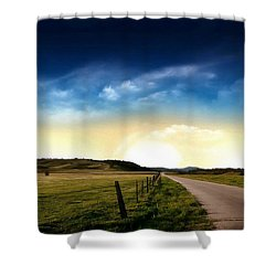 Grazing Time Shower Curtain by Rod Jellison
