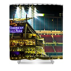 Great American Ballpark Shower Curtain by Keith Allen