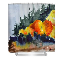 Great Balls Of Fire Shower Curtain by Beverley Harper Tinsley