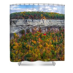Shower Curtain featuring the photograph Great Bend Overlook by Mark Papke