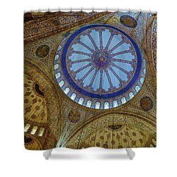 Great Blue Dome Shower Curtain