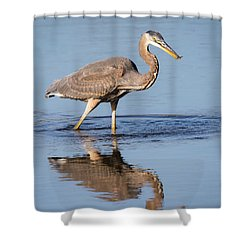 Shower Curtain featuring the photograph Great Blue Heron With A Small Meal by Ricky L Jones