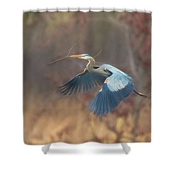 Great Blue Shower Curtain by Kelly Marquardt