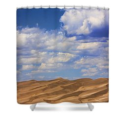 Great Colorado Sand Dunes Mixed View Shower Curtain by James BO  Insogna