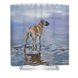 Great Dane Shower Curtain by Lee Ann Shepard