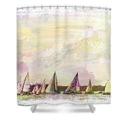 Great Day For Sailing 2 Shower Curtain