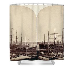 Great Eastern 1859 Shower Curtain by Granger