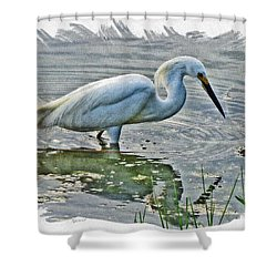 Great Egret 1157-2 Shower Curtain