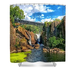 Great Falls In Paterson Shower Curtain