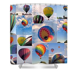 Great Falls Balloon Festival Shower Curtain