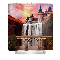 Great Falls Castle Shower Curtain