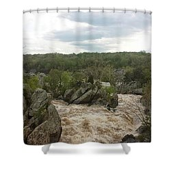 Great Falls Virginia Shower Curtain by Charlotte Gray