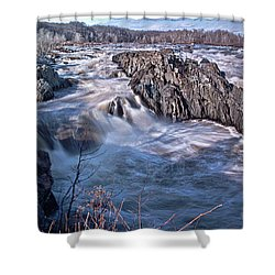 Shower Curtain featuring the photograph Great Falls Virginia by Suzanne Stout