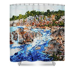 Great Falls Waterfall 201745 Shower Curtain by Alyse Radenovic
