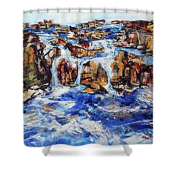 Great Falls Waterfall 201753 Shower Curtain by Alyse Radenovic