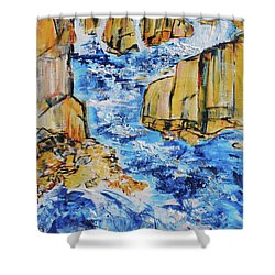 Great Falls Waterfall 201754 Shower Curtain by Alyse Radenovic