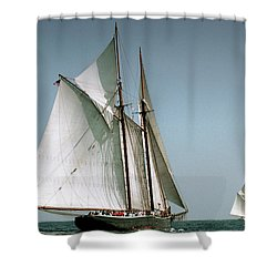 Great Gloucester Schooner Race Shower Curtain