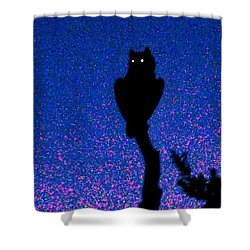 Great Horned Owl In The Desert Shower Curtain