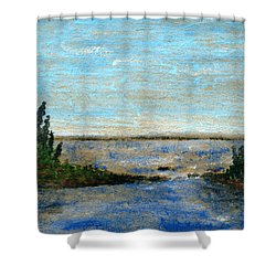Great Lake Beyond Shower Curtain by R Kyllo